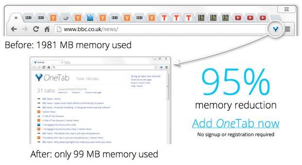 OneTab para Chrome
