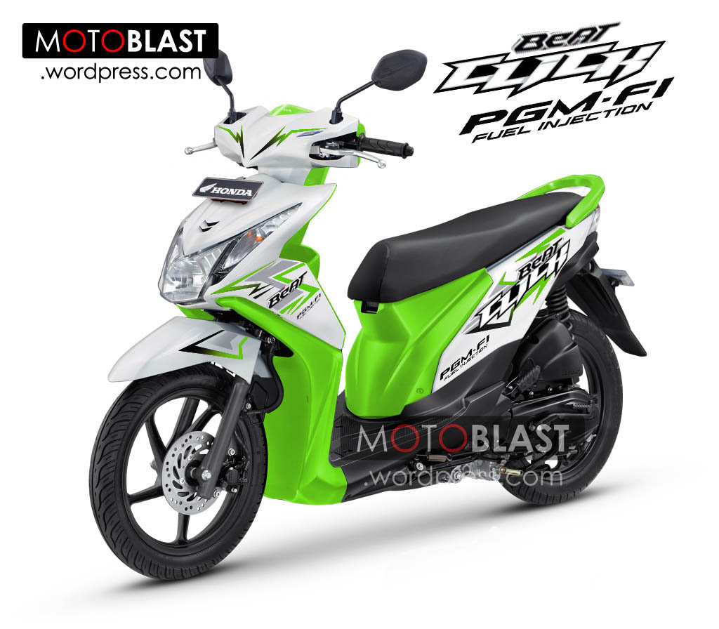 106 Modifikasi Honda Beat Fi Warna Hijau Putih Modifikasi Motor