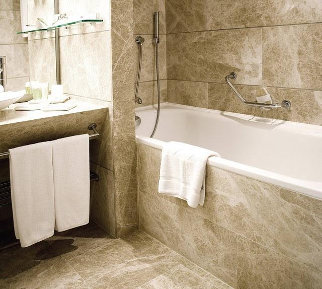 Natural Stone Tile Bathroom - - bathroom tile - - by Tiles Unlimited