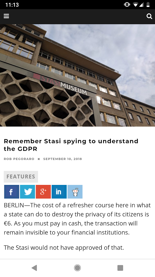 Weekly output: Stasi Museum, new iPhones