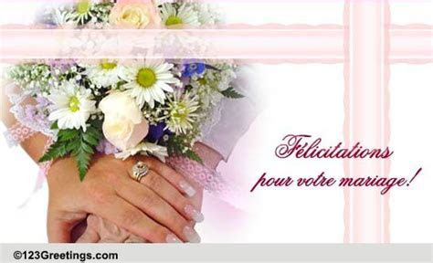 Wedding Wishes In French  Free Around the World eCards