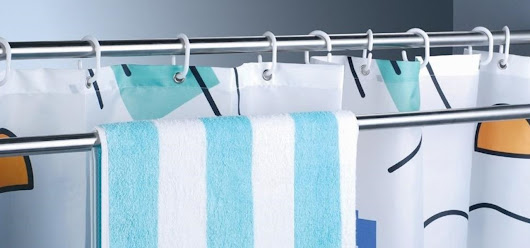 How To: Use Extra Shower Curtain Rods to Increase Bathroom Storage & More