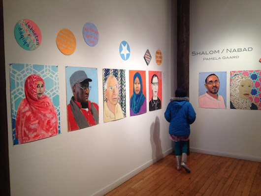 Installation view Shalom / Nabad Traffic Zone Center for Art Minneapolis, MN --2013
