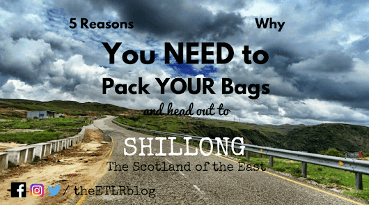 5 Reasons Why You Need To Pack Your Bags and Head out to Shillong TODAY !