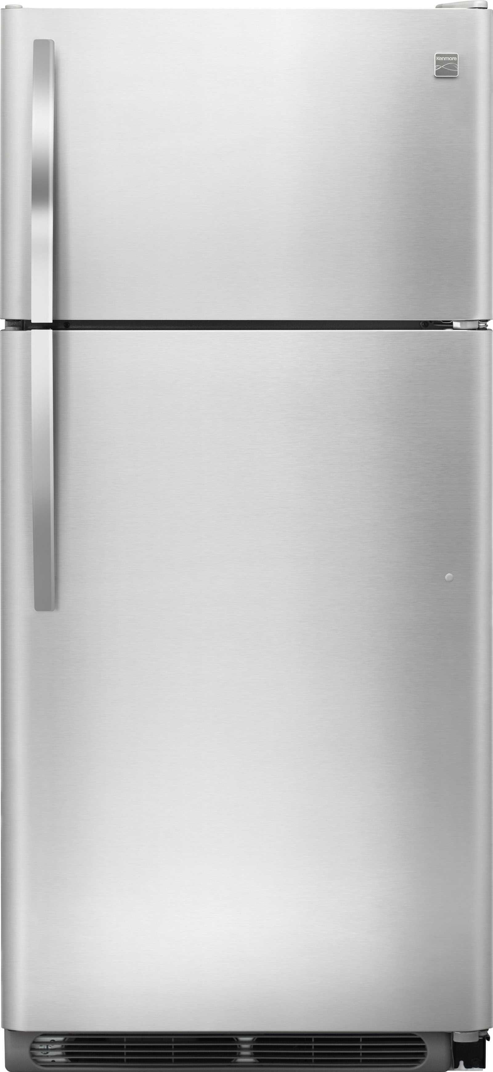 Kenmore 18 cu ft Top Freezer Refrigerator Stainless Steel