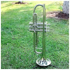 Tomtop i835 Trumpet BB B Flat Silver-Plated Brass Exquisite with Mouthpiece Cleaning Brush Cloth Gloves Strap