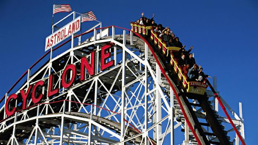 First roller coaster in America opens
