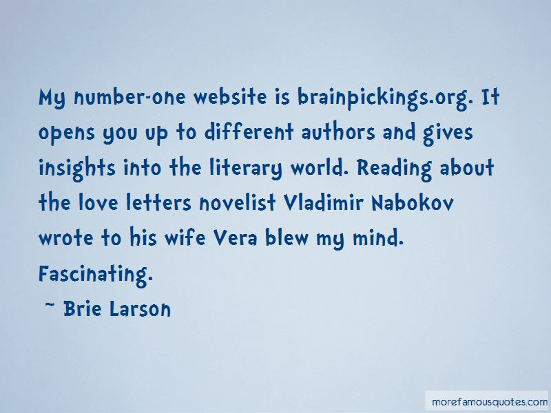 Novelist Vladimir Nabokov Quotes Top 1 Quotes About Novelist