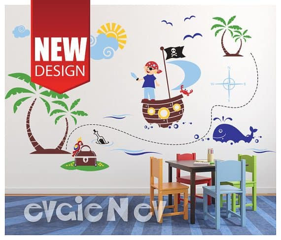 Win A $150 Evgie Wall Decals Gift Card + Easily Decorate Your Walls pirate