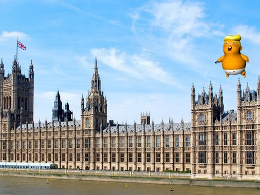A giant balloon dubbed ' #Trump baby' has been given the green light to fly near parliament during the...