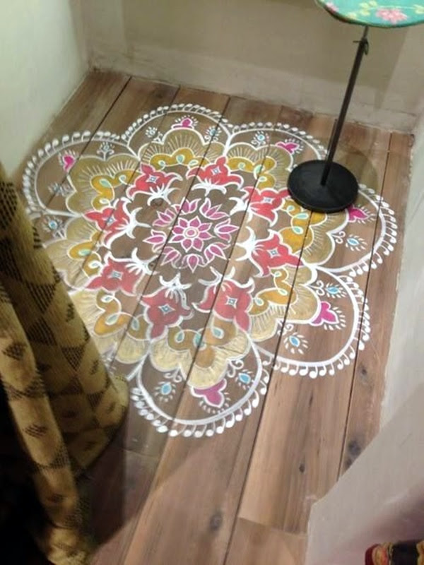 Creative Wood Floor Paint Decoration Art Works (13)