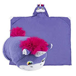 Comfy Critters Stuffed Animal Blanket - Unicorn - Kids Huggable Pillow And Blanket Perfect For Pretend Play, Travel, Nap Time.