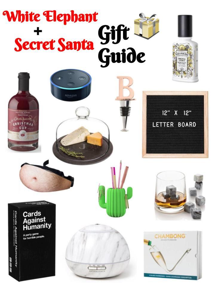 White Elephantsecret Santa Gift Guide Kingdomofsequins