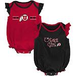 University of Utah Utes Creeper 2 Pack Homecoming Bodysuit Set