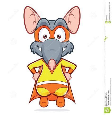 Superhero Rat Stock Vector   Image: 44936309