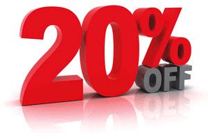 20 Percent Discount Sales Banner