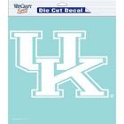 Kentucky Wildcats Decal 8x8 Die Cut White