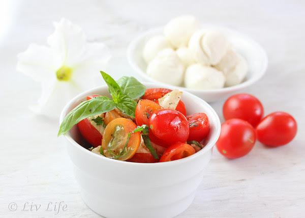 Caprese Salad, tomato, basil