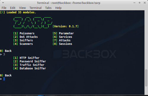 Zarp - Network Attack Tool - Darknet - The Darkside