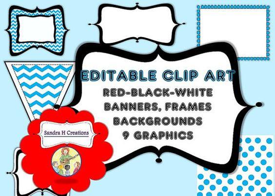 Digital Editable Clip Art Frames & Banners by SandraHCreations ...