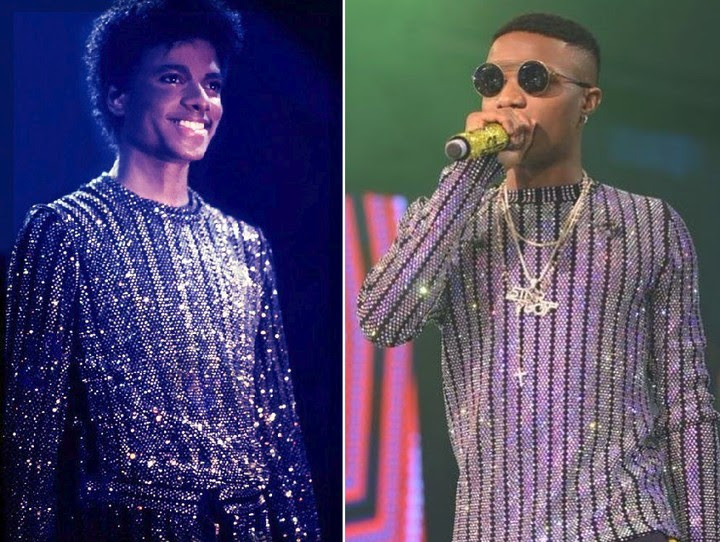 IMage results for wizkid and micheal jackson