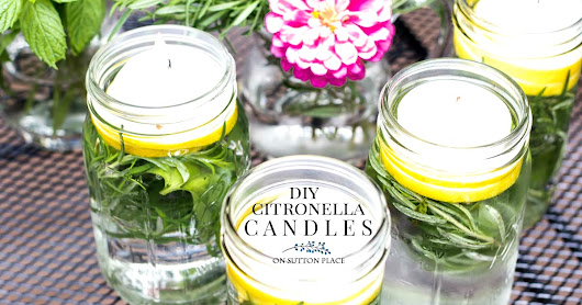 Citronella Herb Floating Candles | Easy Tutorial - On Sutton Place