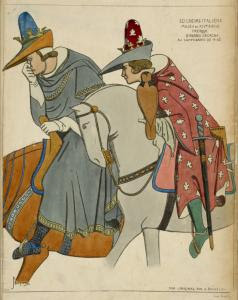 Seigneurs Italiens. Milieu du ... Digital ID: 1642531. New York Public Library