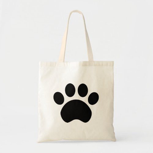 Dog Paw Print Grocery Tote Bag