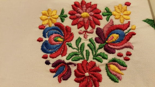 Hungarian machine embroidery by GAMZEDESIGN on Etsy