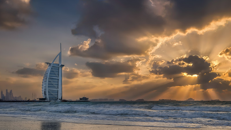 Jumeriah Beach sunset, Dubai