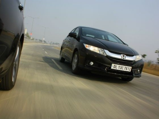Honda City tracking shot