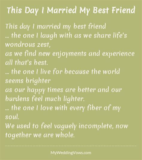 This Day I Married My Best Friend   poetry   Best friend