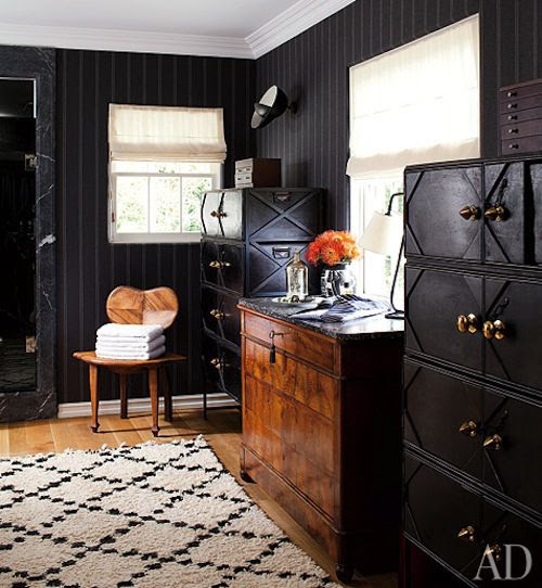 Hank Azaria's Dressing Room #Interiors #Decor #Dressingrooms #Celebrityhomes
