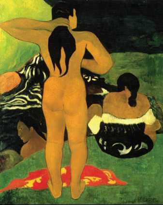 П. Гоген. «Таитянки на побережье». 1892г. Музей Метрополитен. Нью-Йорк