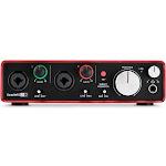 Focusrite Scarlett 2i2 USB Audio Interface - Red