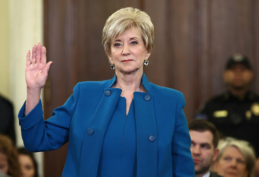 Former wrestling executive Linda McMahon confirmed to lead SBA