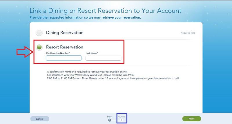 Link Reservations Step 4