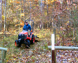 brushhogging a trail