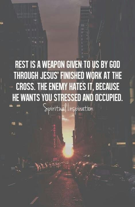 Rest... So true. We worship busyness