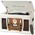 Victrola - Aviator 8-in-1 Bluetooth Stereo Audio System - White