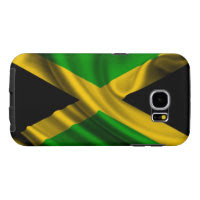 Jamaica Flag Fabric Samsung Galaxy S6 Cases