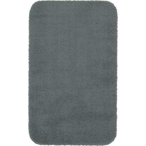 Maples Rugs Bathroom Cloud Bath 23 5 X 39 Washable Non Slip Mat Made In Usa For Kitchen Shower And Grey Flannel