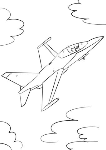 Dibujo De Avión De Combate Militar Para Colorear Dibujos Para