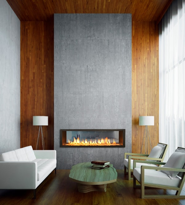 56 Clean and modern showcase fireplace designs