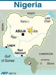 A map of the city of Jos in the Federal Republic of Nigeria where a series of bomb attacks on Christmas Eve has resulted in 38 reported deaths. The country has undergone civil strife over the last few years and is preparing for national elections in 2011. by Pan-African News Wire File Photos
