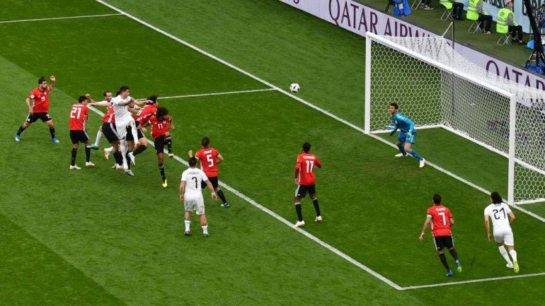 Copa Mundial FútbolRusia 2018, Egipto vs Uruguay, Egipto y Uruguay: Uruguay vence a Egipto de último minuto