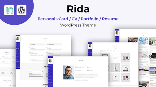 Rida - vCard Responsive Resume / Portfolio WordPress Theme - Theme88.Com – Free Premium Nulled Cracked Themes & Plugins & PHP Scripts and More