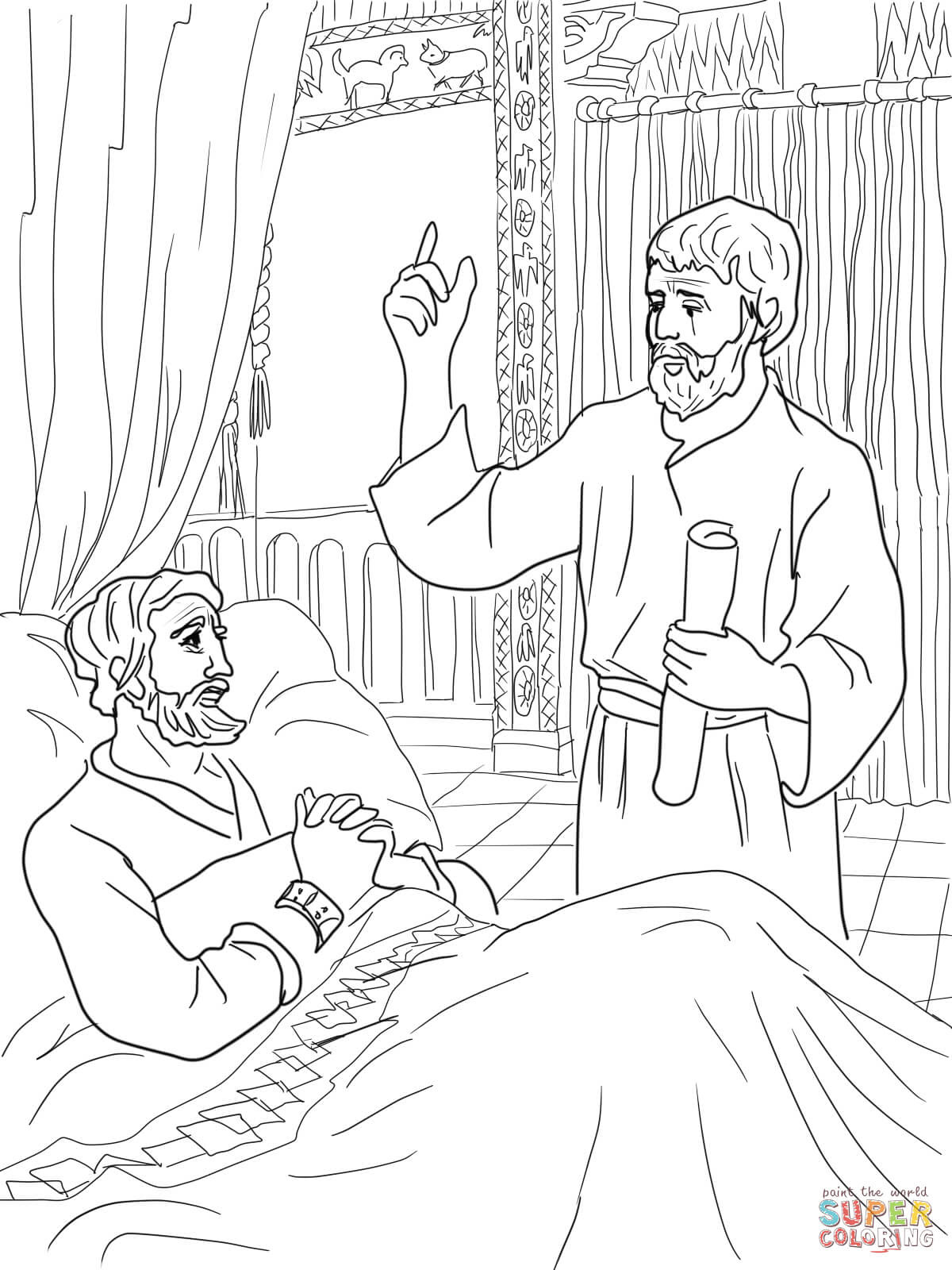 top isaiah told about jesus coloring page top free