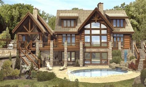 luxury log cabin home plans   beautiful log homes