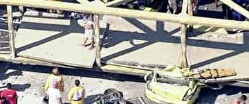 Motorista diz que não viu caçamba de pé antes de acidente (Reprodução/GloboNews)
